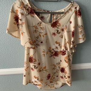 Tops - Floral Blouse